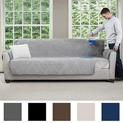 Superb Mighty Monkey Premium Slip And Water Resistant Oversize Sofa Slipcover Seat Width Up To 78 Inch Oeko Tex Certified Suede Like Absorbs 6 Cups Of Onthecornerstone Fun Painted Chair Ideas Images Onthecornerstoneorg