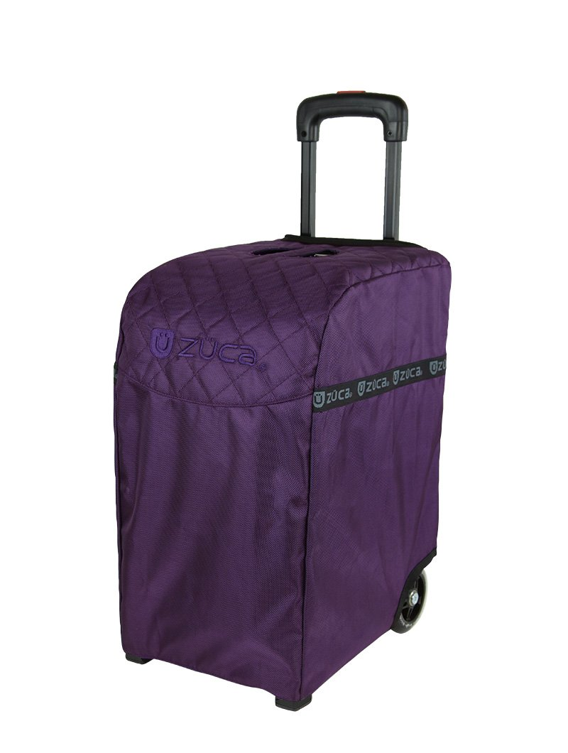 Zuca Purple Bag, Black Frame, 5 Standard Pouches, TSA w/ Purple Travel Cover by ZUCA (Image #4)