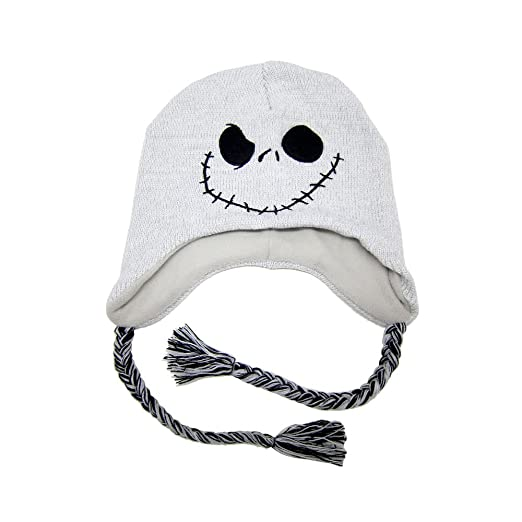 27bcad7cbbcdc Image Unavailable. Image not available for. Color  The Nightmare Before  Christmas Jack Skellington Knit Beanie Laplander Hat ...