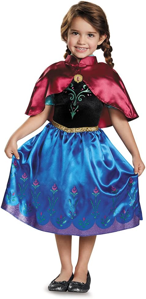 Disguise Costumes Anna Traveling Toddler Classic Costume One Color 2T Small