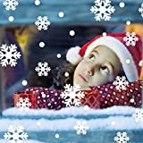 Liping Wall Window Stickers Angel Snowflake Christmas Xmas Glass Film Anti-UV Window Sticker for Home and Office (A)