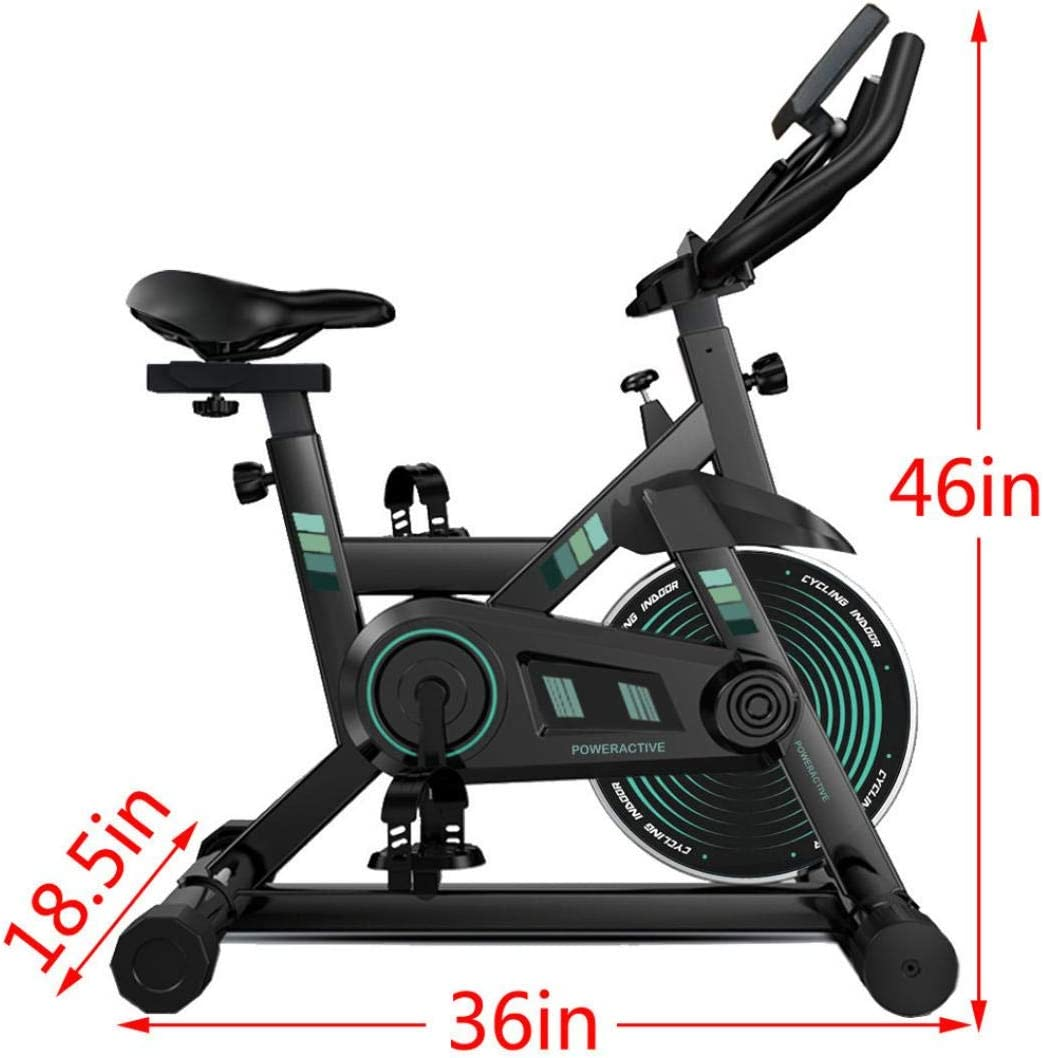Silent Belt Drive Home Gym Bicycle with iPad//Phone Holder Indoor Cycling Bike Stationary Exercise Bike for Home Gym with Comfortable Seat Cushion