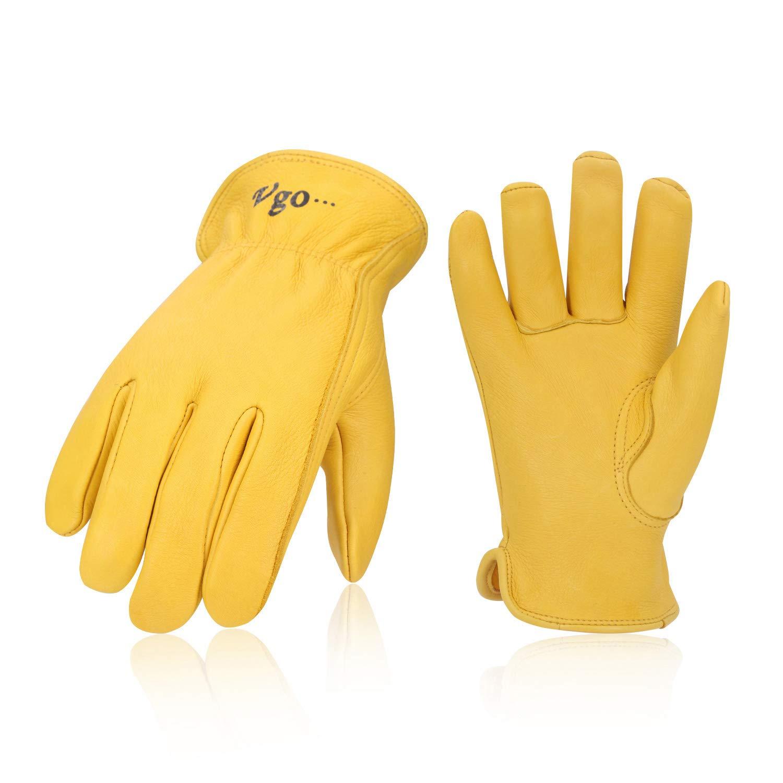 NEW Large deerskin drivers multi purpose work gloves 1 pair