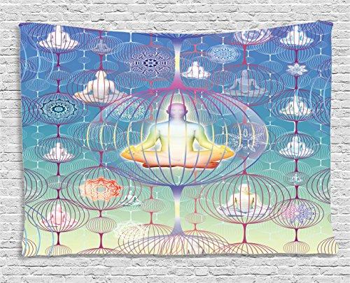 Ambesonne Collection Meditation Patterns Spiritual