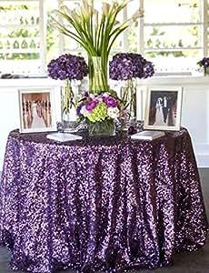 shinybeauty 90morado lentejuelas tela, mantel de lentejuelas mantel redondo de, parte brillante decoración de la boda