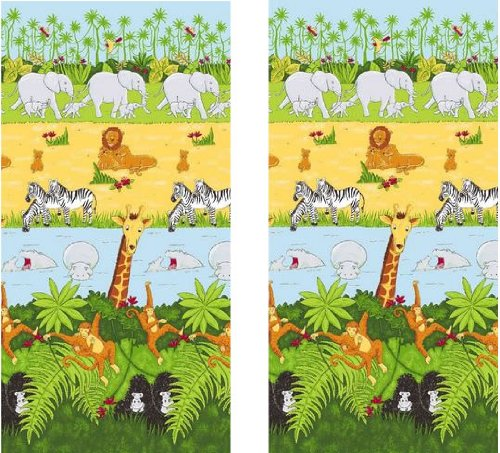 Rideaux Jungle Safari Cheeky Monkey 167 X 182 Cm Amazon Fr Cuisine