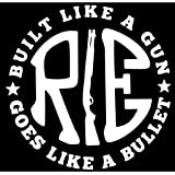 Onlinemart Pack Of 2 Re Like A Gun White Sticker Decal Sticker For Royal Enfield Bullet/Bike Sticker (11.5 Cm X 11.5 Cm)