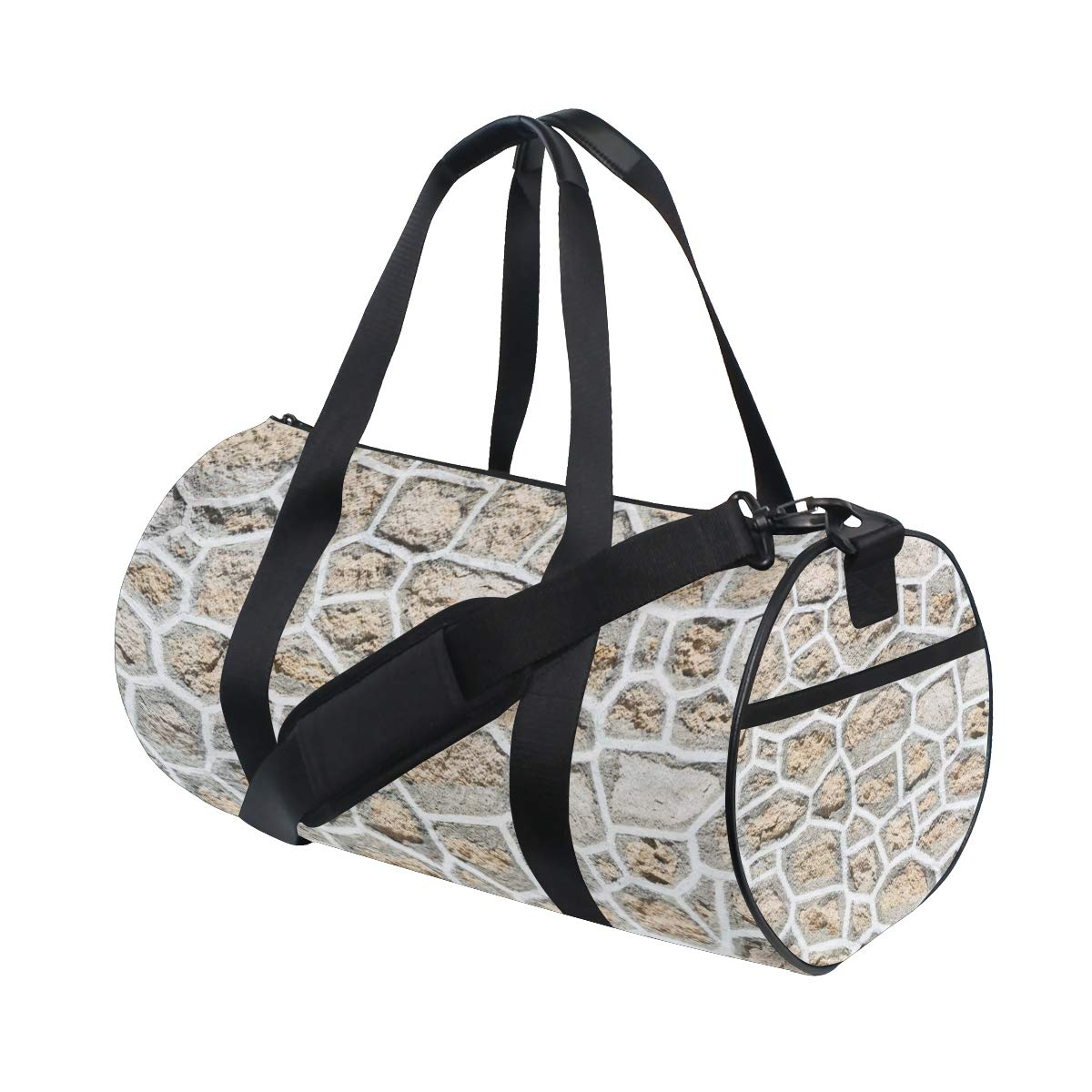 Yoga Sports Gym Duffle Bags Tote Sling Travel Bag Patterned Canvas with Pocket and Zipper For Men Women Bag