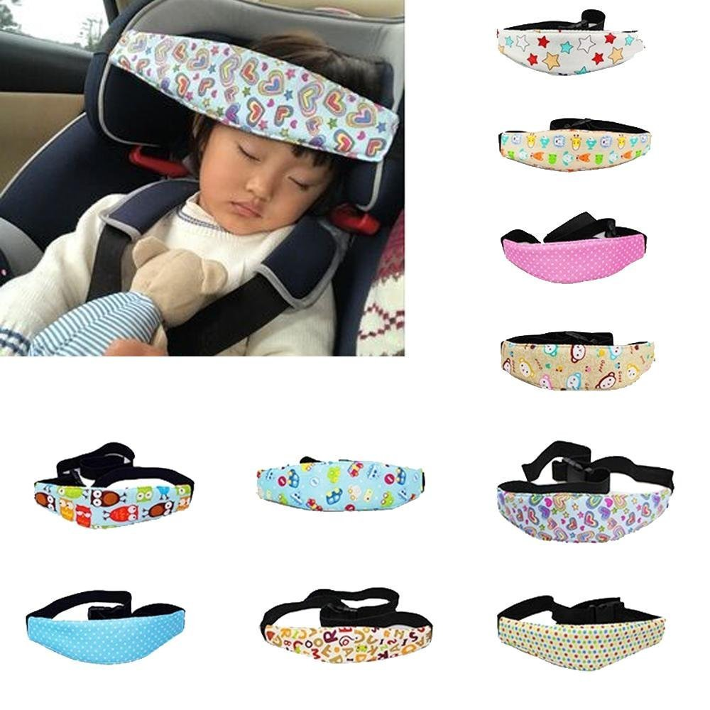 niceEshop(TM) Toddler Car Seat Head Support and Neck Relief Baby Sleep Positioner, Random Pattern/Color TRTAZ11A