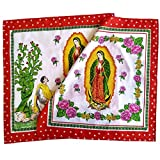 6 pieces pack Virgin of Guadalupe Handkerchief Cotton Paliacate Guadalupano Mexican Virgin Handmade