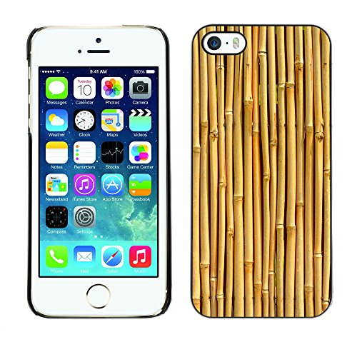 Premio Sottile Slim Cassa Custodia Case Cover Shell // V00002774 Texture Bamboo // Apple iPhone 5 5S 5G