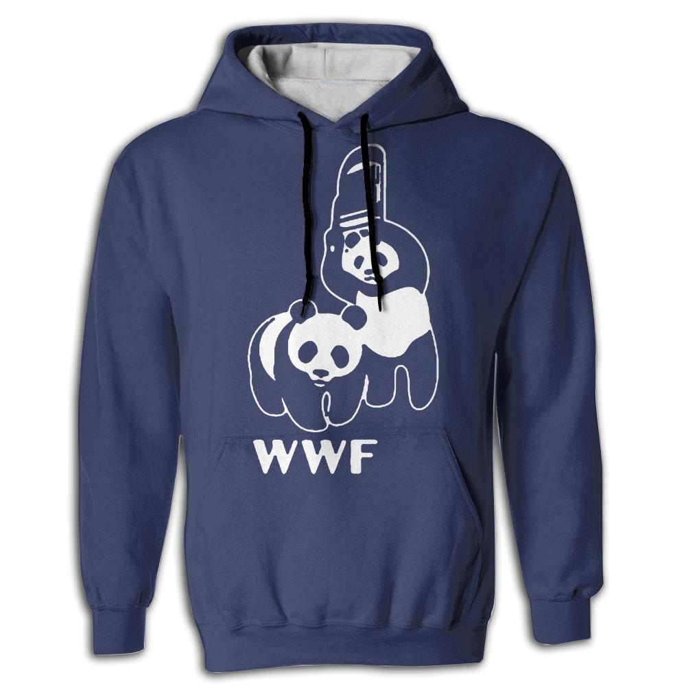 WWF Panda Wrestling Pros Parody Design Men's Hoodie