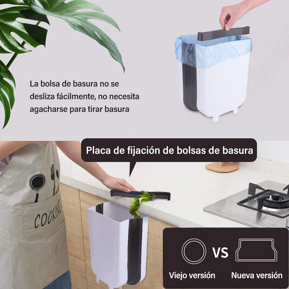 EVILTO Cubos de Basura Plegable Bote de Basura Colgante Basurero ...