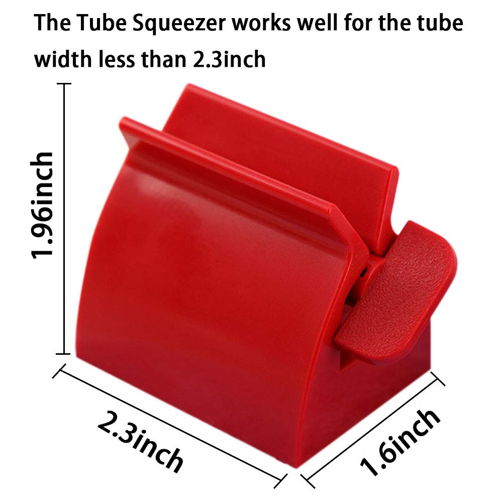 Johouse Toothpaste Squeezer, Set of 4 Rolling Toothpaste Tube Squeezers Toothpaste Tube Holder Multifunction Manual Rotate Toothpaste Dispenser Tube Squeezer Tool Stand for Bathroom
