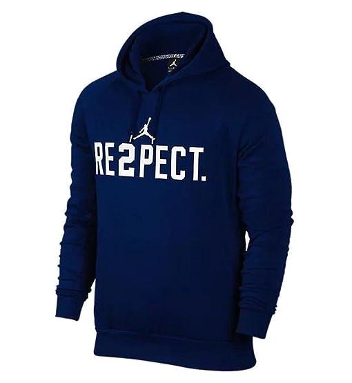 Nike Jordan Men's Jeter RE2PECT Pullover Hoodie College Navy (XXX-Large)