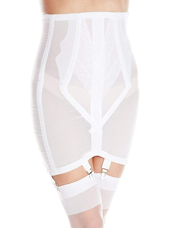 1920s Style Underwear, Lingerie, Nightgowns, Pajamas Rago Womens Plus-Size High Waist Open Bottom Girdle with Zipper $81.05 AT vintagedancer.com