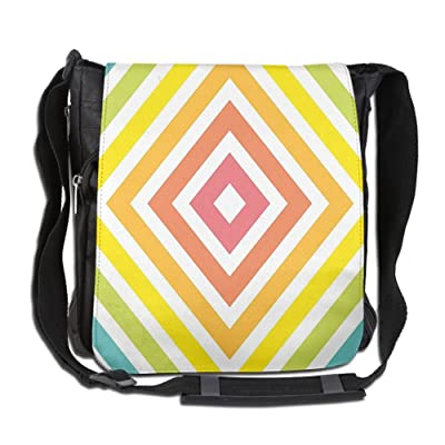 Lovebbag Geometric Pattern With Inner Square Shaped Stripes Rectangles Rhombus Graphic Crossbody Messenger Bag