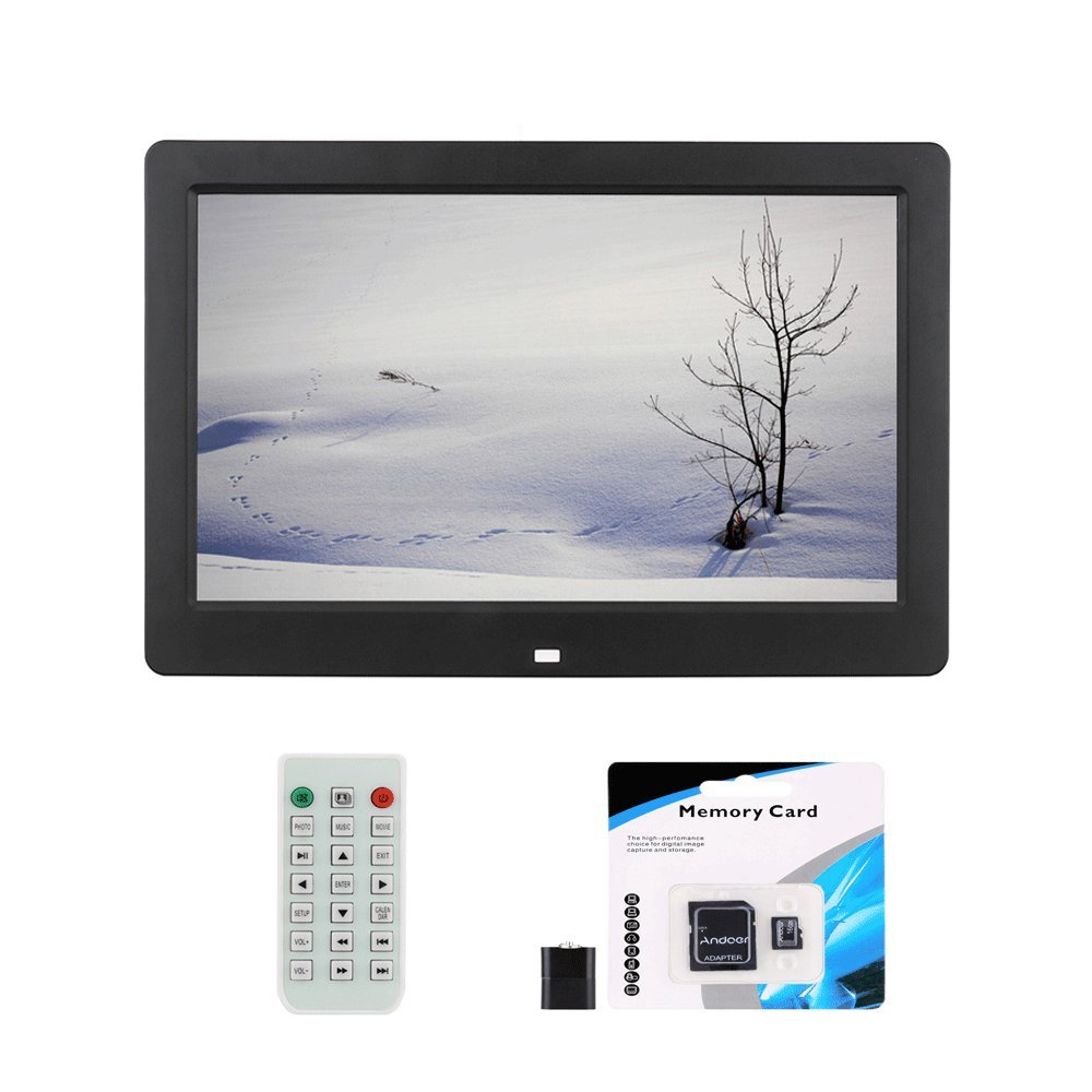 ... Reloj Despertador Reproductor de MP3 MP4 Películas con Control Remoto Regalo de Navidad + Andoer® 16GB Tarjeta de Memoria: Amazon.es: Electrónica