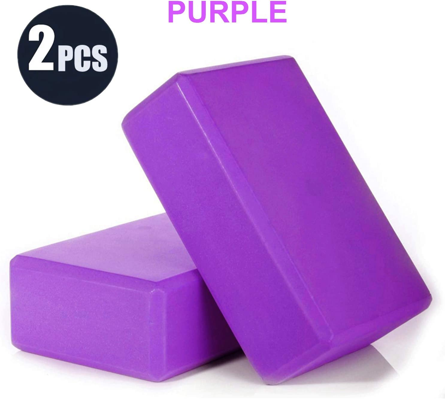 Pilates Meditation Supportive High Density EVA Foam Soft Non-Slip Surface for Yoga EUSIN Yoga Block 2pcs