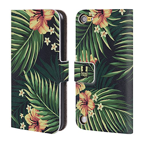 Head Case Forest Tropical Prints Cover telefono a portafoglio in pelle per Apple iPod Touch 5G 5th Gen / 6G 6th Gen