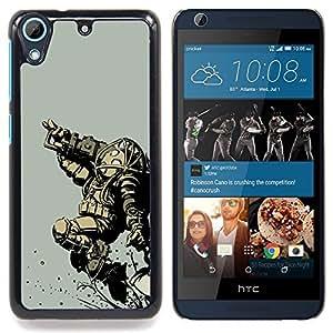 For HTC Desire 626 & 626s - Bi0Shock Big Daddy - Gaming /Modelo de la piel protectora de la cubierta del caso/ - Super Marley Shop -