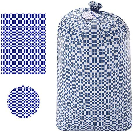 "3 Holiday Blue Plastic Gift Bags 56""x36"" for Christmas Parties Large Holiday Plastic Gift Bag"