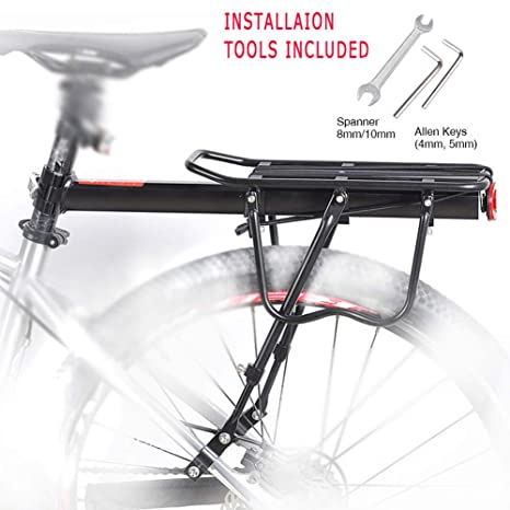 a15ff0a153c Amazon.com   YAH Whole Quick Release Aluminum Alloy Bicycle Rear Rack 50KG  Rear Seat Luggage Carrier Shelf MTB Cycling Rack Road Mountain Bike Cargo  Racks ...