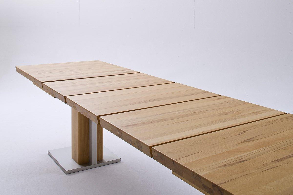 Robas Lund Tisch Esstisch Säulentisch Bari ausziehbar Kernbuche ...