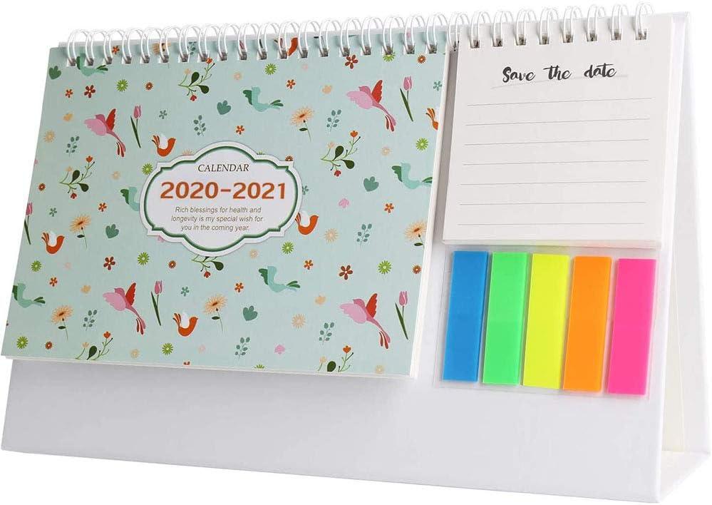 September 2020 - December 2021 Mini Desk Calendar to Do List Daily Memo Calendar for Home Desk Ornaments