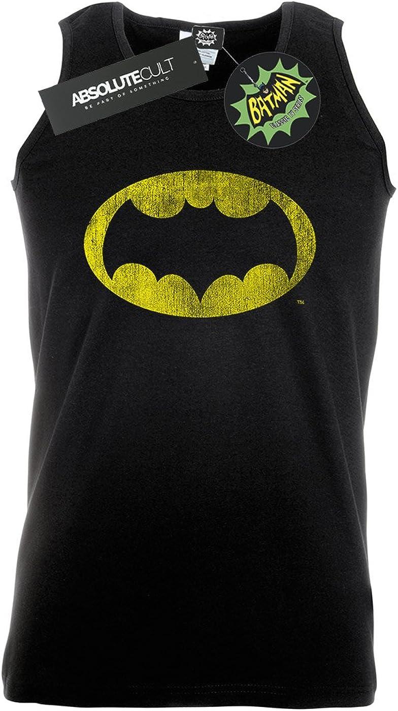 DC Comics Mens Batman TV Series Distressed Logo Vest