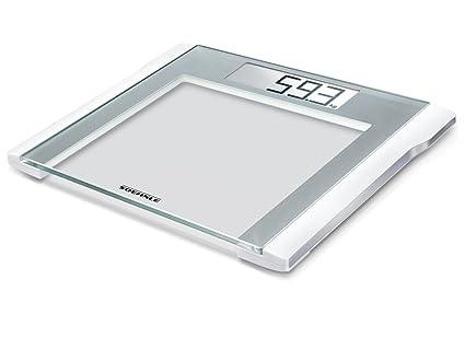 Soehnle Style Sense Comfort 200 - Bascula de bano digital, color plata/blanco