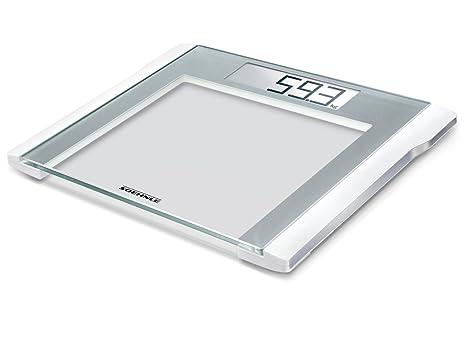 Soehnle Style Sense Comfort 200 - Bascula de bano digital, color plata/ blanco