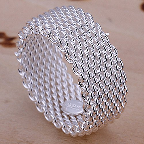 925 Sterling Silver Mesh Ring