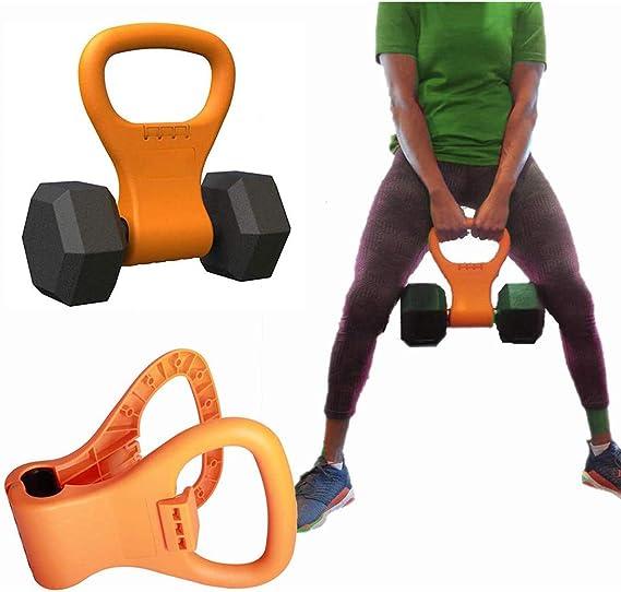 Agarre de pesas rusas ajustable, portátil, accesorio de entrenamiento de viaje, mancuerna de pesas para gimnasio, levantamiento de pesas, culturismo, pérdida de peso, naranja: Amazon.es: Deportes y aire libre