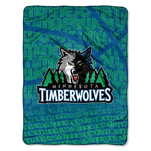 Raschel Blanket Micro Nba - NBA Minnesota Timberwolves Redux Micro Raschel Throw, Blue, 46 x 60