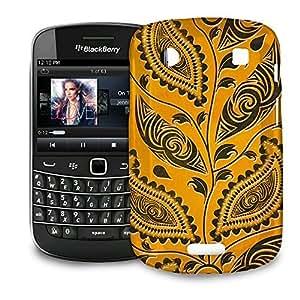 Phone Case For BlackBerry Bold 9900 / 9930 - African Tribal Leaves Hardshell Cover