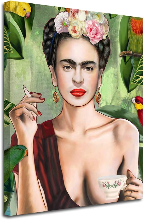 Anddy Frida Kahlo -Home Décor Wall Art Painting Print Framed Canvas for Living Room, Bedroom Decorative Artwork