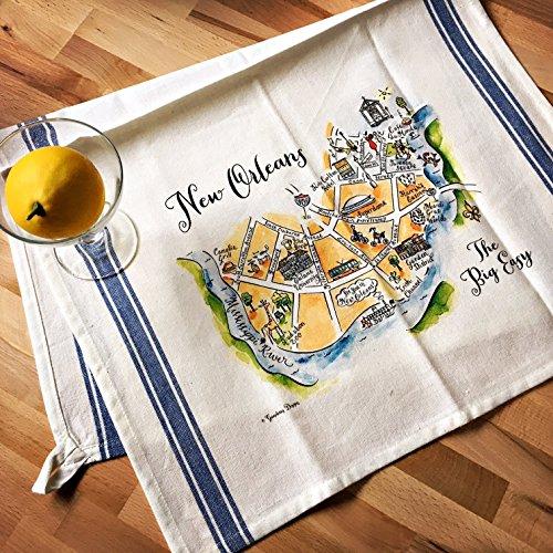 Tea Orleans (New Orleans Map Kitchen Tea Towel)