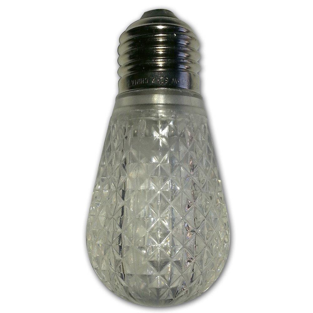 11-Watt String Light Company LEDS14R Red LED Diamond S14 Light Bulb with E26 Base Pack of 12
