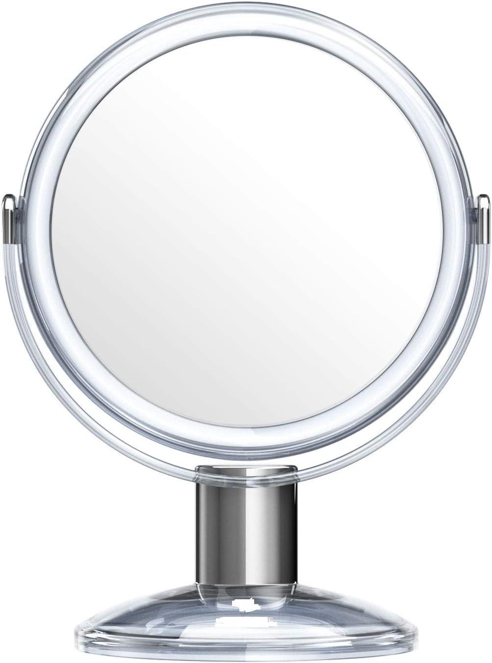Beautifive Schminkspiegel Kosmetikspiegel Spiegel Kosmetik Vergr/ö/ßerungsspiegel mit 1x 7X Vergr/ö/ßerung 360/°Drehbar Tischspiegel f/ür Make Up Silber