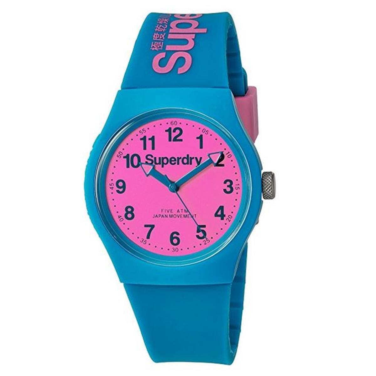 Superdry Reloj Analógico de Cuarzo para Hombre con Correa de Silicona – SYG164AUP