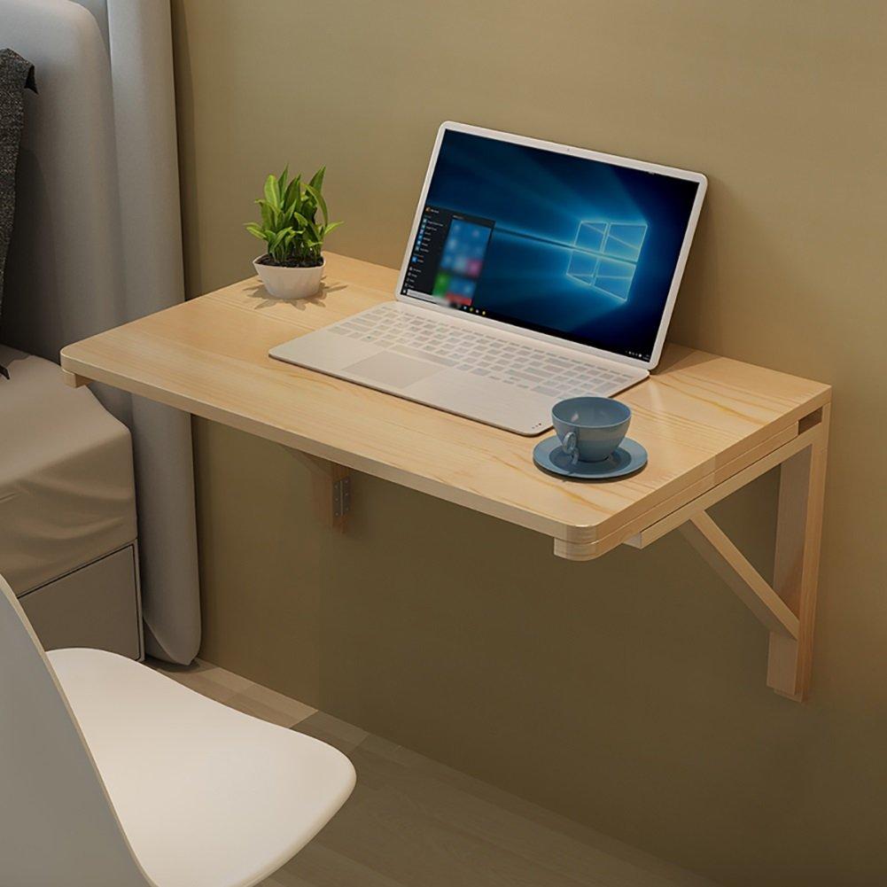 NYDZ Computer da tavola a Parete Tavolo da Pranzo in Legno massello e Doppio Supporto della Parete della Tabella a Muro scrivania Pieghevole (Dimensioni   60  40cm)