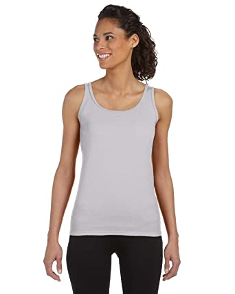 Gildan Womens 4.5 oz. SoftStyle Junior Fit Tank Top (G642L) -SPORT GREY