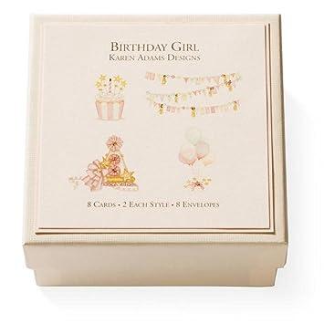Amazon.com: Karen Adams feliz cumpleaños de niña regalo ...
