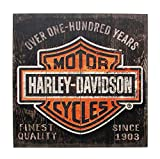Cheap Harley-Davidson 28 x 28 Over One Hundred Years B&S Wood Sign W11-HARL-SHIELD