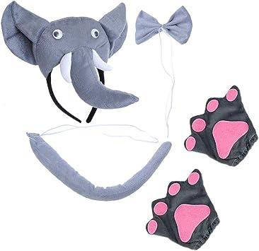 Amosfun - Juego de 5 Piezas de Disfraz de Elefante, Diadema ...
