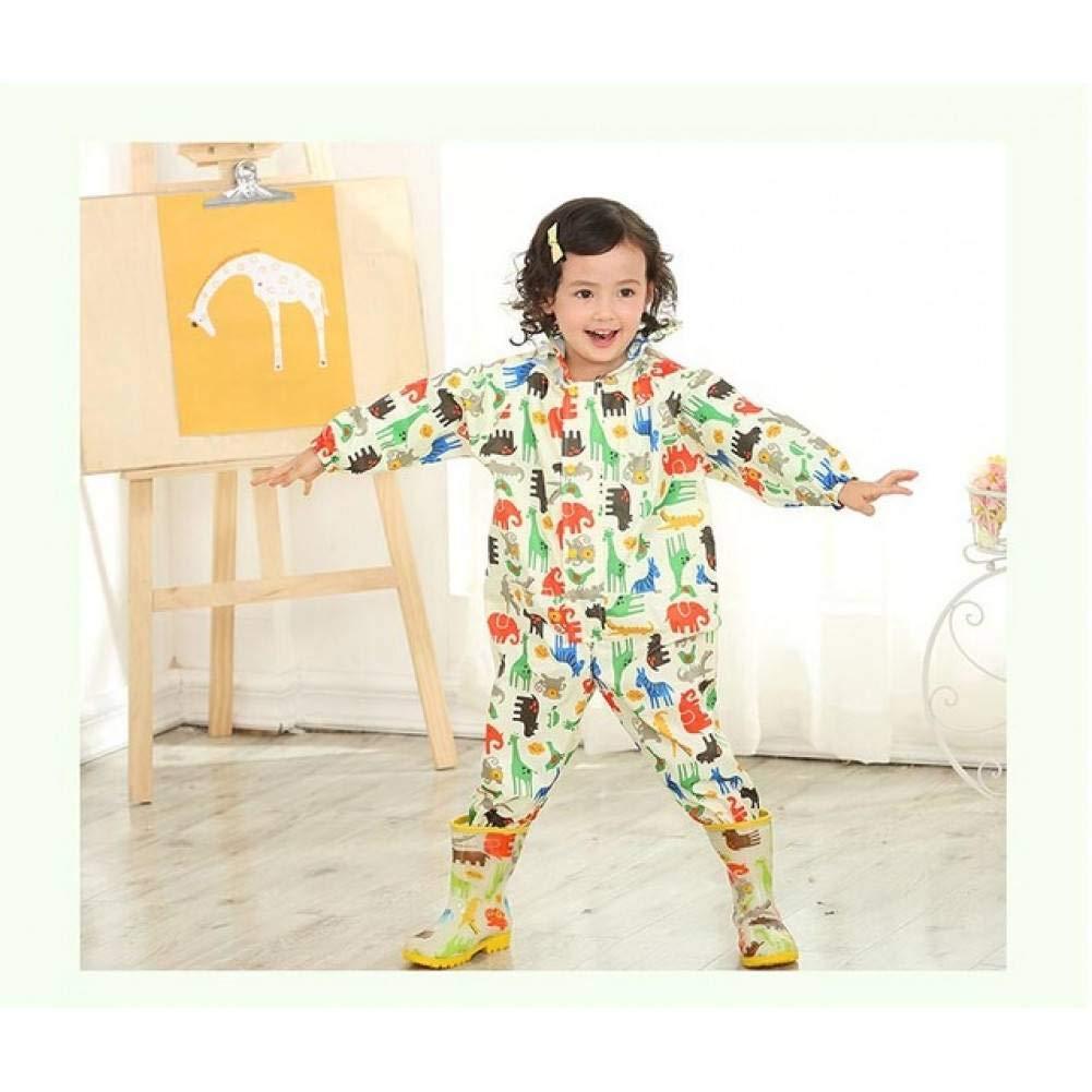jaune L NHDYZ Imperméable 80-120 cm imperméable imperméable pour Enfants Enfants bébé Manteau de Pluie Poncho garçons Filles école Primaire étudiants Siamois Pluie Costume