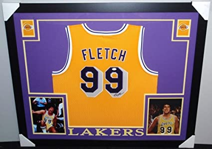 7f821839a Chevy Chase Autographed Signed Fletch  99 Lakers 35x43 Deluxe Framed Jersey  - JSA Certified