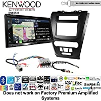 Volunteer Audio Kenwood DNX574S Double Din Radio Install Kit with GPS Navigation Apple CarPlay Android Auto Fits 2010-2012 Fusion (Black) (Not for factory amplified systems)