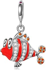 NINAQUEEN Clownfish 925 Sterling Silver Charms for women, Elegant Gift Box, Nickel Free Passed SGS